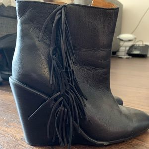 See by Chloe wedge boots with fringe